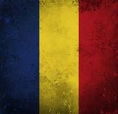 Grunge flag of Romania — Stock Photo