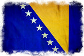 Bosnia and Herzegovina grunge flag — Stock Photo