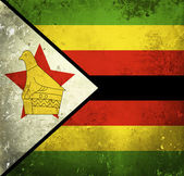Grunge flag of Zimbabwe — Foto de Stock