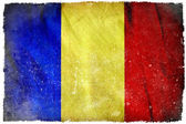 Romania grunge flag — Stock Photo