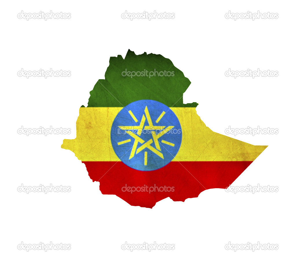 Map of Ethiopia isolated — Stock Photo #9184698