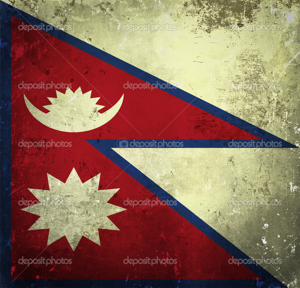 Grunge flag of Nepal  Stock Photo #9187486