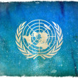 United Nations grunge flag — Stock Photo #9193218