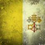 Grunge flag of Vatican City — Stock Photo