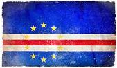 Bandeira do grunge de cabo verde — Foto Stock