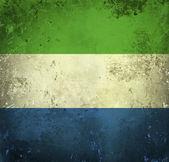 Grunge flagga sierra leone — Stockfoto