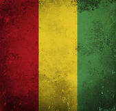 Grunge flag of Guinea — Stock Photo