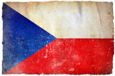 Bandera de grunge de república checa — Foto de Stock