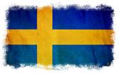 Sweden grunge flag — Stock Photo