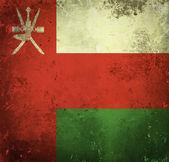 Grunge flag of Oman — Stock Photo