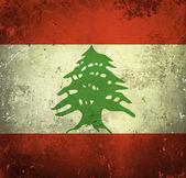 Grunge flag of Lebanon — Stock Photo