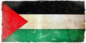 Bandeira do grunge de palestina — Foto Stock