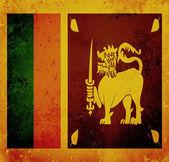 Grunge flag of Sri Lanka — Stock Photo