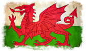 Wales grunge flag — Stock Photo