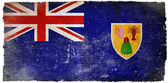 Turks and Caicos grunge flag — Stockfoto
