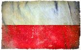 Poland grunge flag — Stock Photo