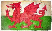 Wales grunge flagga — Stockfoto