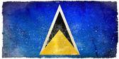 Flaga ilustracja saint lucia — Zdjęcie stockowe