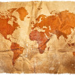 World grunge sepia map — Stock Photo #9205005