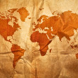World grunge sepia map — Stock Photo #9205018