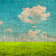 Landscape with canvas pattern — Stock Photo