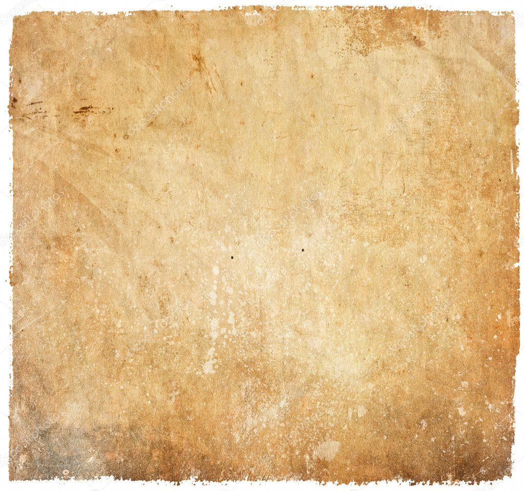 Vintage paper background isolated on white — Stock Photo © Alexis84 ...