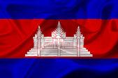Cambodia waving flag — Stock fotografie