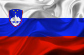 Slovenia waving flag — Stock Photo
