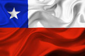 Chile waving flag — Stock Photo