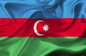 Azerbaijan waving flag — Stock Photo