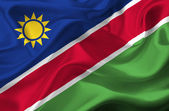 Namibia waving flag — Stock Photo