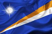 Marshall Islands waving flag — Stock Photo