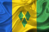 Saint Vincent and the Grenadines waving flag — Stock Photo