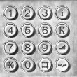 Phone number pad — Stockfoto