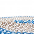 Close-up of cyan and white pearls — Stock Photo