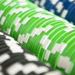 Casino gambling chips background - Stock Photo