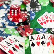 Collection of poker game photos — Stok fotoğraf