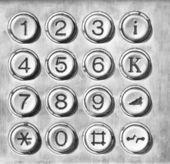 Phone number pad — Stock Photo