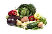 Group of fresh vegetables isolated on white — Stock Photo