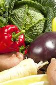 Verse groenten achtergrond — Stockfoto