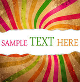 Multicolored retro background with teared corner for your text s — Stock Photo