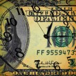 Grunge image of money and clock - Time is money concept — Stock Photo
