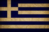 Grekland grunge flagga — Stockfoto