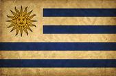 Uruguay grunge flag — Stock Photo