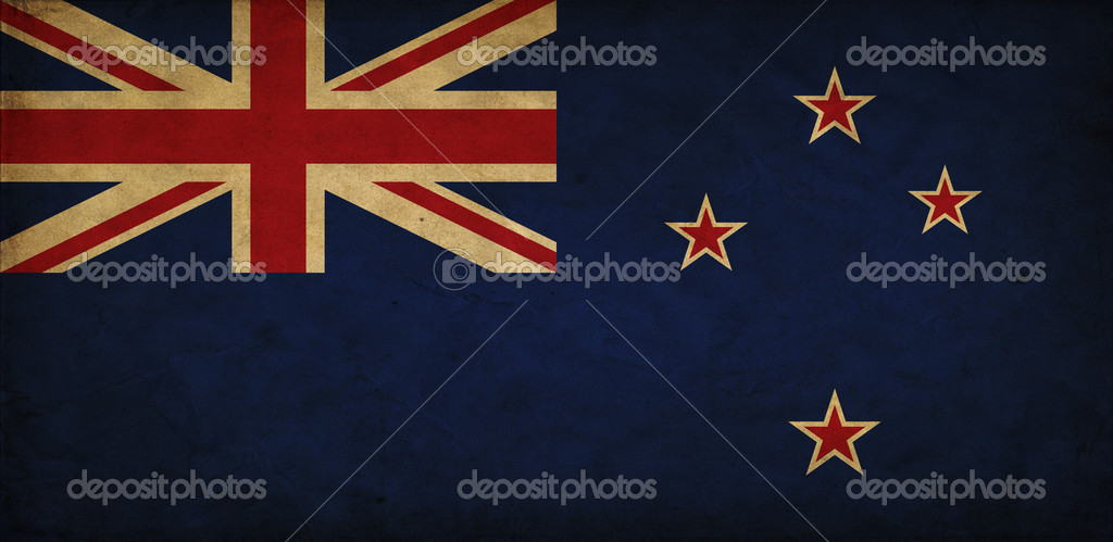New Zealand grunge flag — Stock Photo #9400164