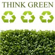 Think green ecology concept — Stock Photo #9477877