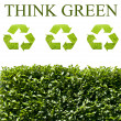 Think green ecology concept — Stock Photo