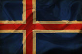 Iceland waving flag — ストック写真