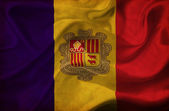 Andorra waving flag — Stock Photo