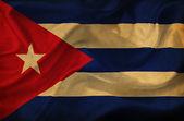 Küba dalgalanan bayrak — Stok fotoğraf